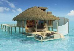 Love the outdoor sunken living room!  Isle of Lamu in the Indian Ocean
