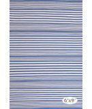 RugStudio presents Dash And Albert Rugby Stripe Denim Flat-Woven Area Rug