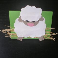 http://cartulina.es/manualidades-de-pascua-carta-con-cordero/ Tarjeta de Pascua hecha a mano