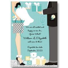 Expectant Couple Pregnancy Announcements