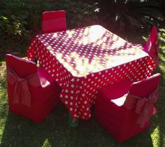 Kids party linen packs for boys and girls - consists of 4 x chair covers, 4 x chair ties, bands or bows, tablecloth and table runner. Prices from R 180 to R See our listings on Bid or Buy!