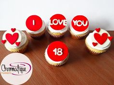 Love cupcakes (Cupcakes de amor) https://www.facebook.com/ChromatiquePasteleria