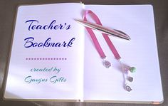 Gifts for Teachers, 'No. 1 Teacher' Bookmark, Teachers Gift, Teachers Bookmark, Ribbon Bookmark, End of School Gifts, Bookmark with Charms. by GawjusGifts on Etsy
