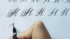 Modern Calligraphy Letter H