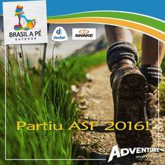Partiu ASF 2016!  #BrasilaPé #ConhecerparaPreservar #ASF2016 #VemPraAdventure #EuAmoAventura #AdventureCongress #FITS #Deuter #todesnake