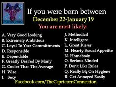 are you a capricorn