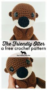 This free crochet otter pattern makes a sweet little toy softie. This amigurumi otter makes a great gift or nursery toy!