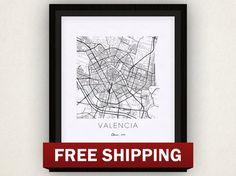 Valencia Map Print by iLikeMaps on Etsy, $20.00