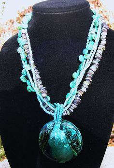 Turquoise Bohemain Statement Necklace with by GoldiesNaturalGems