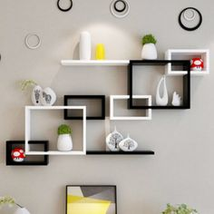 Wall Shelves Design, Creative Walls, Wall Hanging Living Room, Color Palette Living Room, Hanging Cabinet, Decorating Shelves, Wooden Shelves, Gold Bathroom Decor, Home Decor Shelves