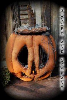 Folk Art JackOLantern & Tea-Light e-Pattern Halloween Doll, Holidays Halloween, Vintage Halloween, Halloween Pumpkins, Halloween Crafts, Halloween Decorations, Halloween Stuff, Halloween Ideas, Rustic Halloween