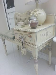 Telephone table #Christine Doyle @ Shabby Nua https://www.facebook.com/pages/Shabby-Nua/1426421684284138?ref=hl
