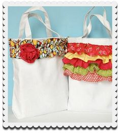 Ruffled Canvas Tote | Jo-Ann Fabric and Craft Stores
