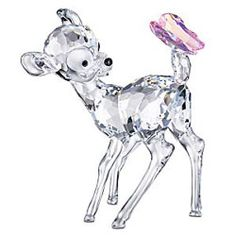 Swarovsky figurine Walt Disney - The delicate Bambi crystal figurine by the Swarovski Disney line is made of high quality glass.