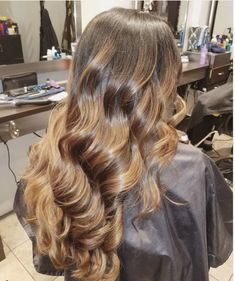 black into light brown ombré/balayage