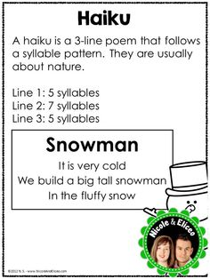 poetry unit - haiku anchor chart If you buy the bundle it includes other poem anchor charts. check lists, graphic organizers, examples poems, etc. that would be helpful in a poetry unit. Poetry Unit, Writing Poetry, Essay Writing, Writing Rubrics, Paragraph Writing, Opinion Writing, Persuasive Writing, Teaching Poetry, Teaching Writing