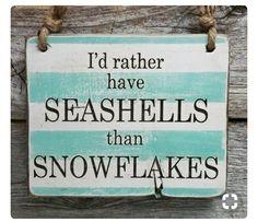 I'd rather have seashells than snowflakes. Love the beach Beach Christmas, Coastal Christmas, Tropical Christmas, Christmas Ideas, I Need Vitamin Sea, No Bad Days, I Love The Beach, Beach Fun, Ocean Beach