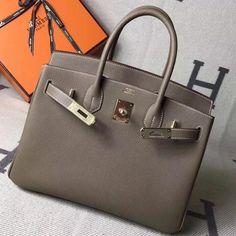 f45922bb9ab6 Hermes Original Togo Leather Birkin 25 30 35 Handbag Mouse Grey (Gole-tone  Hardware)