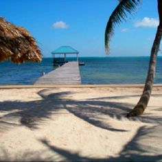 Beautiful quiet beach of San Pedro, Belize