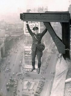 Date unknown A man hangs from a skyscraper in New York City. (via reddit)