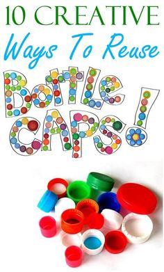 10 Creative Ways To Reuse Plastic Bottle Caps: