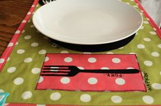 Cute placemat tutorial