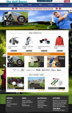 Golf Store #eCommerce #WebDesign