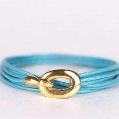 Rebecca   Wristicuffs Double wrap bracelet handmade with European leather.  Custom made to order.  #handmade #wrapbracelets #gold #armcandy #wristicuffs Women's Bracelets, Gold, Leather, Handmade, Jewelry, Hand Made, Jewlery, Bijoux, Jewerly