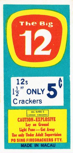 Big 12 C4 12s Firecracker Pack Label | Flickr - Photo Sharing!