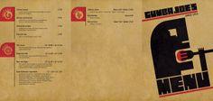 Bauhaus Menu by Tony Jankowski, via Behance