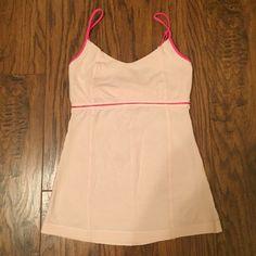 Lululemon tank Light pink (blush) cami style top. Shelf bra but not padded. lululemon athletica Tops Tank Tops