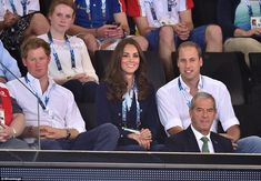 dailymail:  Prince Harry and the Duke and Duchess of Cambridge attended men's artistic gymnastics, Day 5 of the Commonwealth Games, Glasgow, Scotland, July 28, 2014