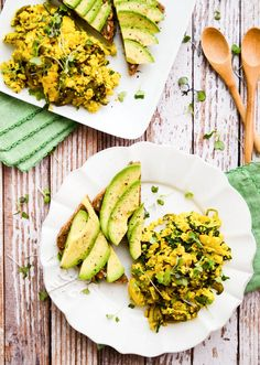 This Springtime Tofu Scramble recipe makes your taste buds do the happy dance; beautiful and delicious!