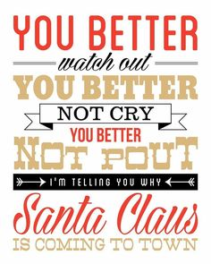 Santa Claus Is Coming To Town // NEW Christmas Print