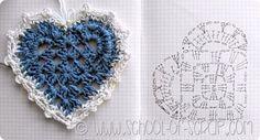 DIY Handmade: 12 schematów i wzorów - Jak zrobić serce na szydełku?