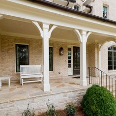Corbel Front Porch Design Ideas, Pictures, Remodel, and Decor