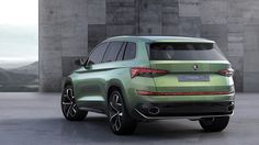New six-seat Skoda SUV concept revealed in Geneva. Full story and pictures at CAR magazine Luxury Car Logos, Luxury Cars, Volkswagen, Tiguan, Restoration Hardware Dining Chairs, Thing 1, Car Magazine, Mini Trucks, Unique Cars