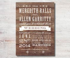 Vintage Western Rustic Wedding Invitation Printable DIY Wedding Invitation Outdoor Wedding on Etsy, $15.00