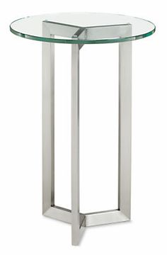 The elegant symmetry of our hand-welded stainless steel Bond end table adds an architectural element to your space. We love to show off the base with a glass top, but you can personalize Bond with an array of top options. Please note: overall height may vary slightlydepending on the top material you select.