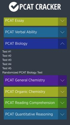 """PCAT Prep Pack"" provides you with PCAT Preparation, Practice Tests, and Flashcards to help you study less, save time and score higher! Unlimited access anytime, anywhere. Apps available for your iPhone and iPad. Get it at:  https://itunes.apple.com/us/app-bundle/pcat-preparation-pack-for/id1031415095?mt=8"