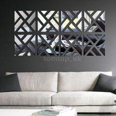 Geometric-DIY-3D-Mirror-Wall-Decal-Set