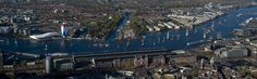 Luchtfoto van de Koningsvaart op het IJ #TorenOverhoeks #troonswisseling #Amsterdam2013