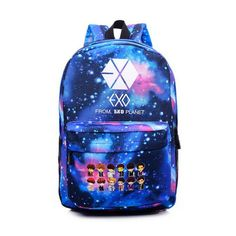 Hot KPOP EXO GOT7 Good Boy XOXO Canvas Backpack Cartoon Rucksacks Men Student Teenage School laptop Bag Girl Travel Mochila Li46