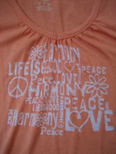 c84cc6074e40aa NEW Life is Good Vibes Burnout T Shirt Tee Womens S Small L S Orange Peace  Love