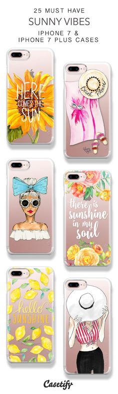 25 Must Have Sunny Vibes Protective iPhone 7 Cases and iPhone 7 Plus Cases. More Happy iPhone case here > https://www.casetify.com/collections/top_100_designs#/?vc=m4abxZoKPz