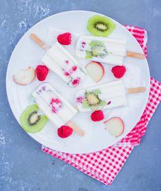 Fruchtiges Kokos-Joghurt-Eis am Stiel!
