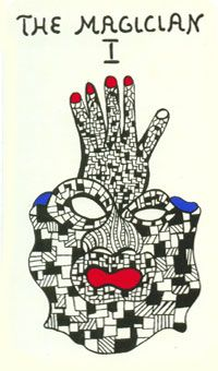 The Magician - Niki de Saint Phalle Tarot Jean Tinguely, Alberto Giacometti, The Magician Tarot, French Sculptor, Line Art Tattoos, Line Flower, Tarot Major Arcana, Abstract Line Art, Cat Tattoo