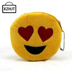 Cute Style Novelty Emoji Smile Zipper Plush Coin Purse Kawaii Children Bag Women Wallets Mini Change Pouch Bolsa #men, #hats, #watches, #belts, #fashion, #style
