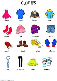 clothes picture dictionary