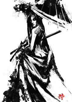 Samurai Spirit Sumi 5 by derylbraun on deviantART